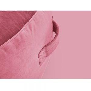 Fatboy puff lounger Pupillow Velvet i farge deep blush mørk rosa ekstra myk fløyel nærbilde