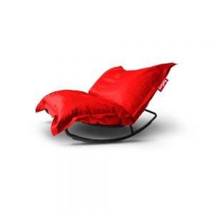 Fatboy Rock'n Roll gyngestol med Original saccosekk rød