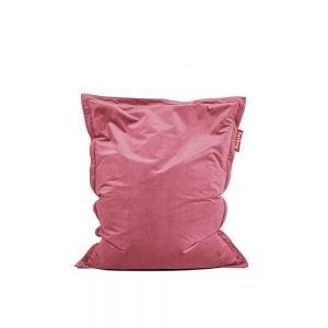 Fatboy Original Slim Velvet saccosekk i farge deep blush ekstra myk fløyel