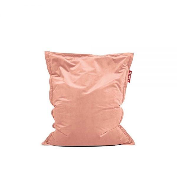 Fatboy Original Slim Velvet saccosekk i farge pearl blush ekstra myk fløyel