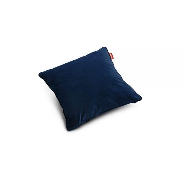 Fatboy Velvet pute i farge dark blue ekstra myk fløyel