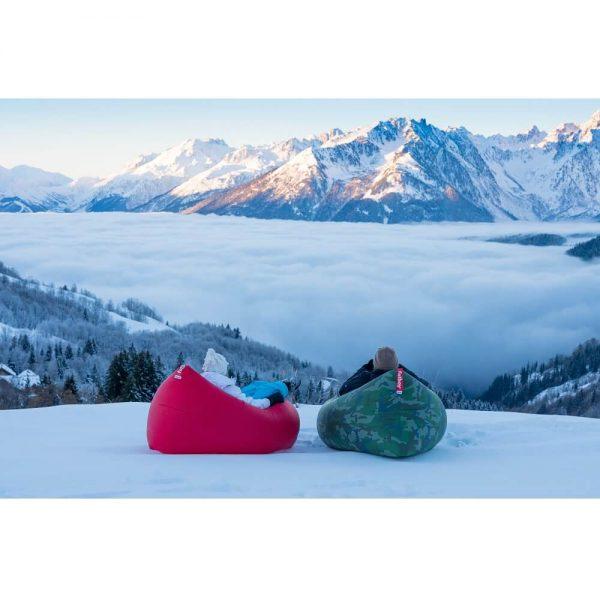 Fatboy Lamzac 2.0 luftseng lounger på vinteren