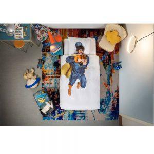 bomull sengesett barn Superhero fra Snurk 140x200
